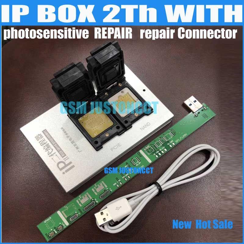 IPBox V2 IP BOX 2th NAND PCIE 2in1 Hohe Geschwindigkeit Programmierer + lichtempfindliche repairConnector + für iP7 Plus/7 /6 S/6 plus/5 S/5C/5
