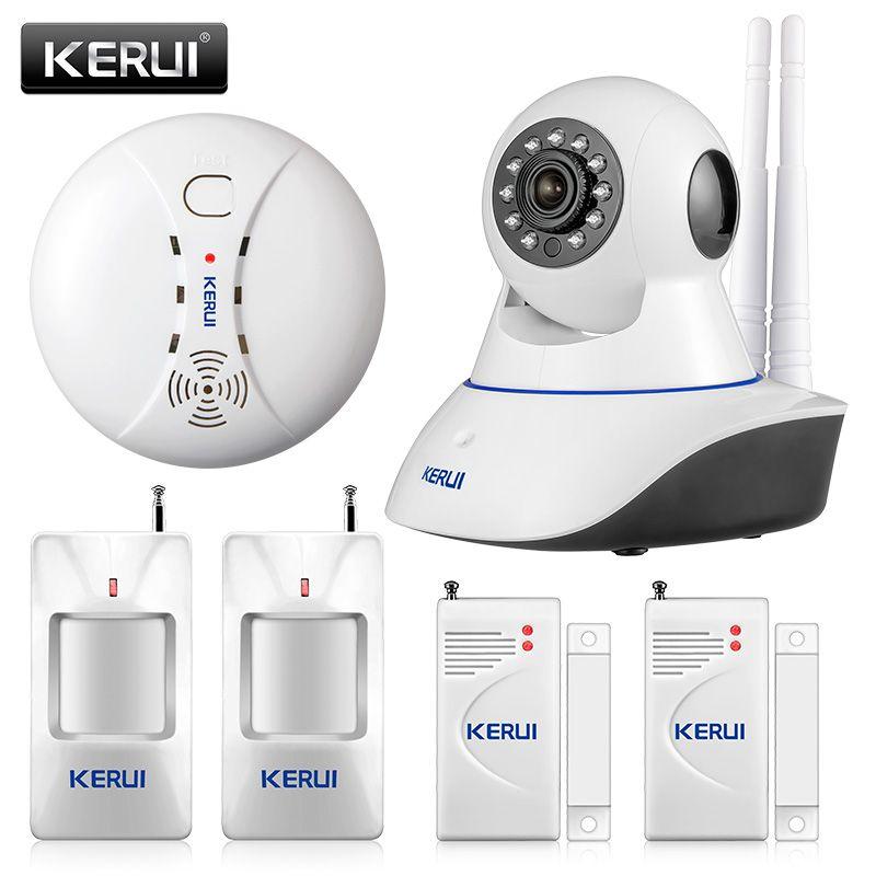 KERUI 720 P réseau de sécurité WIFI caméra IP 1.0MP HD sans fil numérique caméra de sécurité à domicile IR système d'alarme de Vision nocturne infrarouge