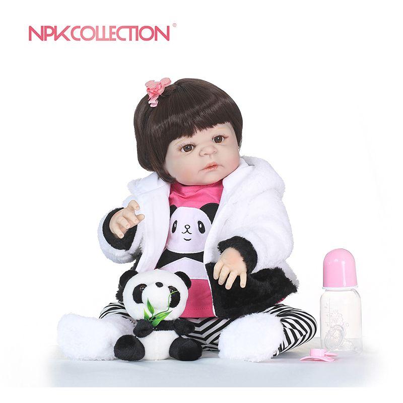 NPKCOLLECTION Realistic Girl Bonecas Reborn Babies Dolls For Sale Full Silicone Vinyl Baby Doll Toys Lifelike Child Xmas Gift