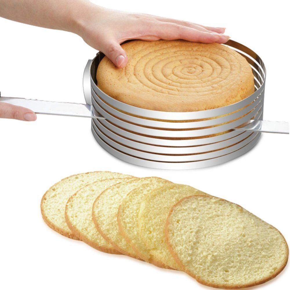 Anneau à gâteau en Mousse 15-20cm en acier inoxydable réglable rétractable circulaire en couches trancheuse Kit d'outils de cuisson moule tranchage