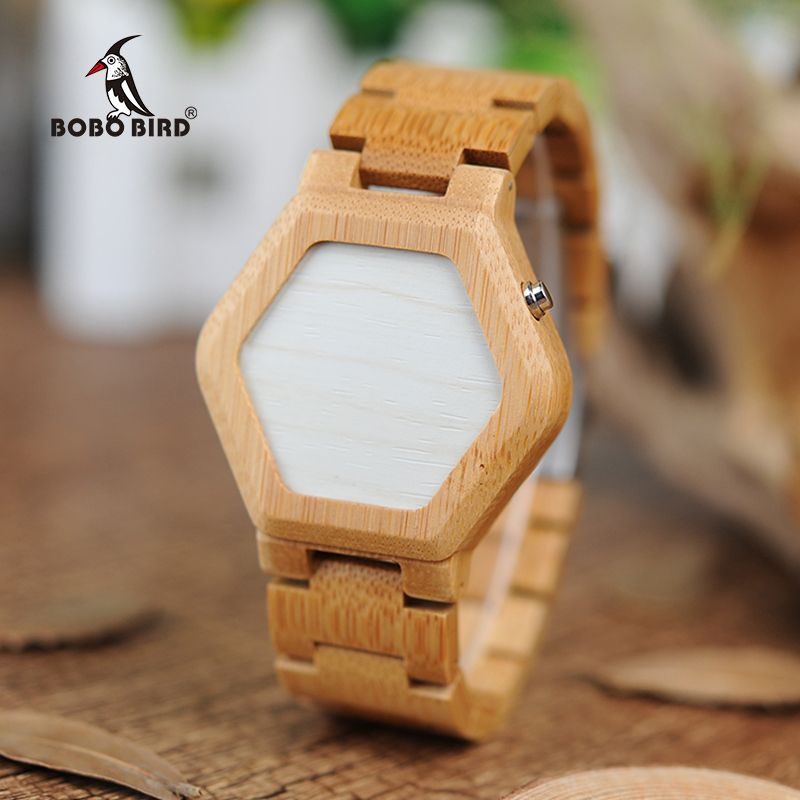 BOBO BIRD V-E03 Casual LED Digital Bamboo Watch Night Vision LED Watch Cool LED Display Clock with Unique LED Date Day