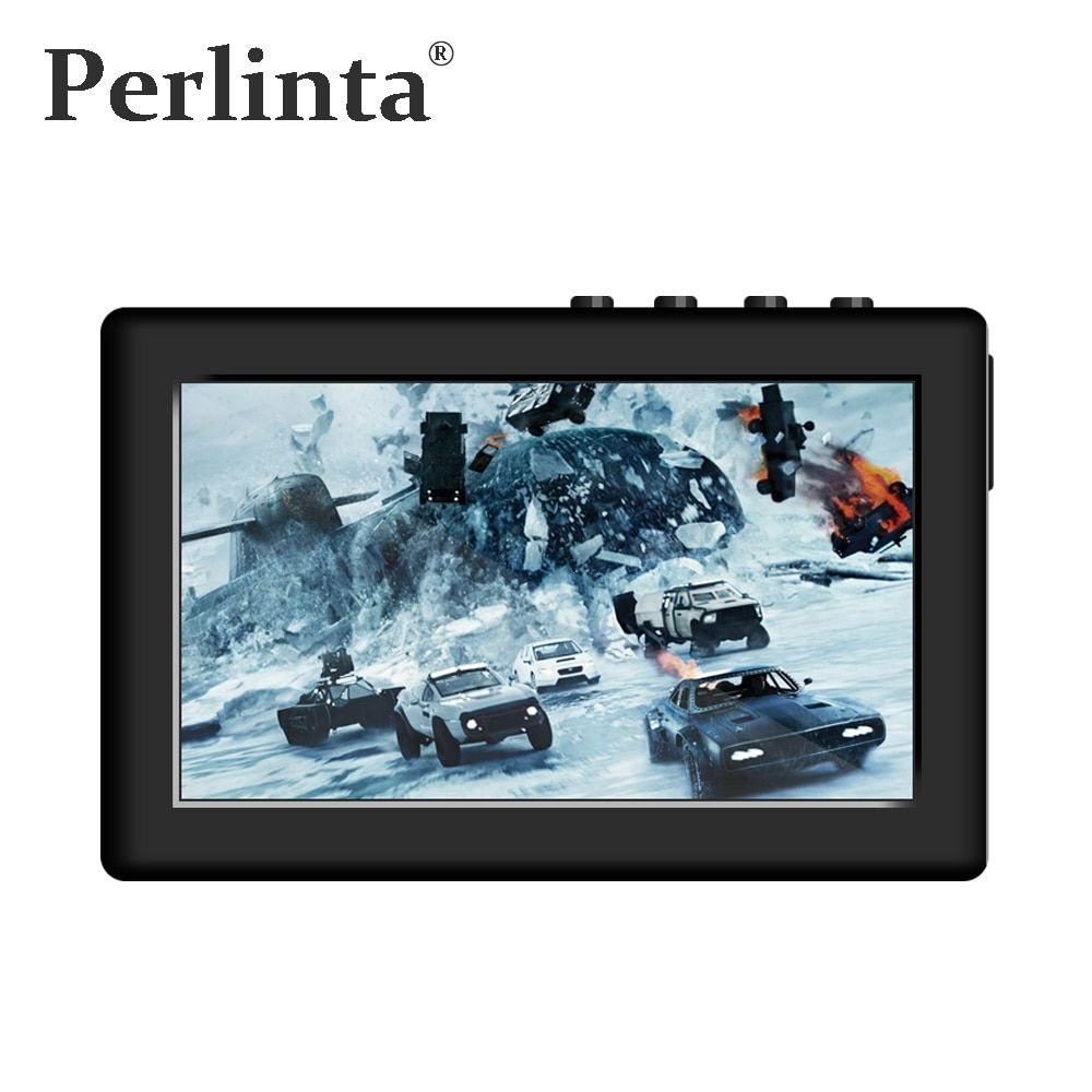 Perlinta MP3 MP4 MP5 Video Player ,8GB Built-in Memory, 4.3Inch Resistive Touch Screen And Key Button Dual Control Music Player