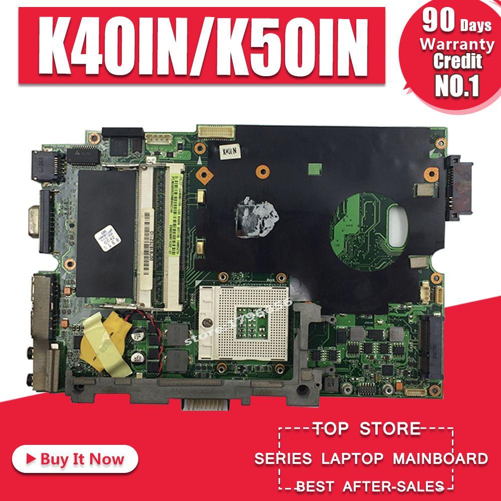 Qualité stable! Envoyer T7500 cpu pour asus K40IN K40IP K50IN K50IP K50AB K40AF K50AF K40AB K40AD K50AD carte mère d'ordinateur portable