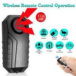 Wireless Bicycle Anti-theft Alarm Waterproof Door/ Window Vibration Alarm Intelligent  Remote Control Alarm Sensor 113dB Loud