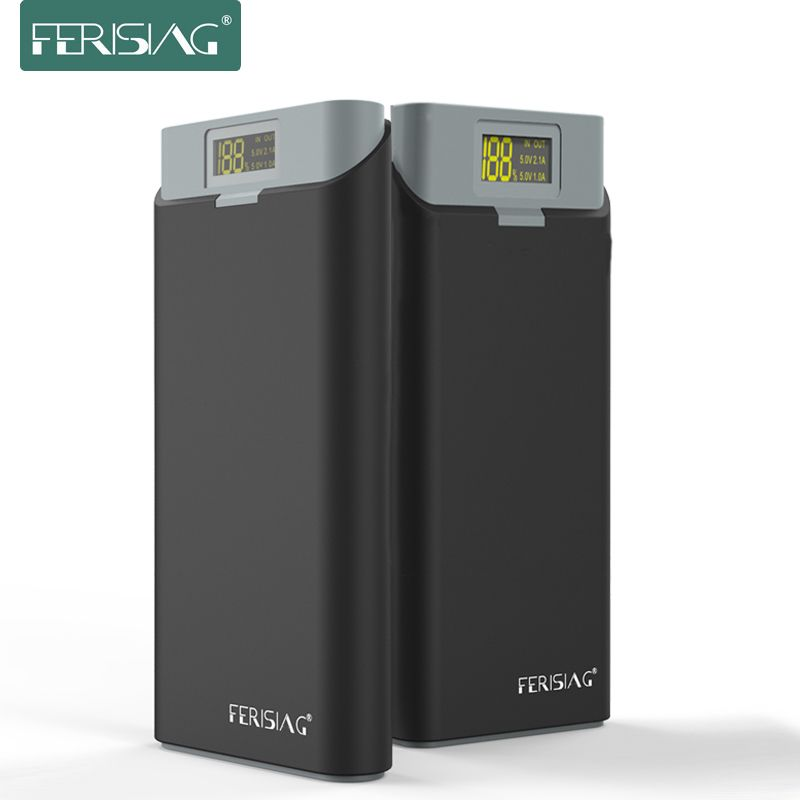 FERISING New Series 20000mah LED Display Power Bank External 18650 Lithium Battery Pover bank Powerbank Charger for Tablet&Phone