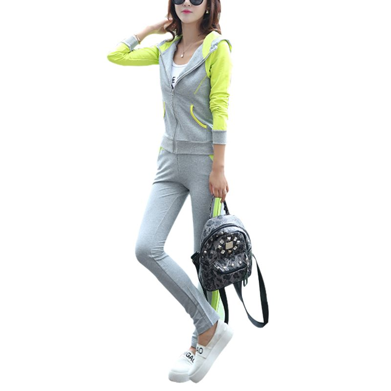 2018 New Tracksuit Women 2 Piece Set Top And Pants Sportwear Plus Size 3Xl Causal Clothing Women's Hoodies Sweatshirt Sweat Suit