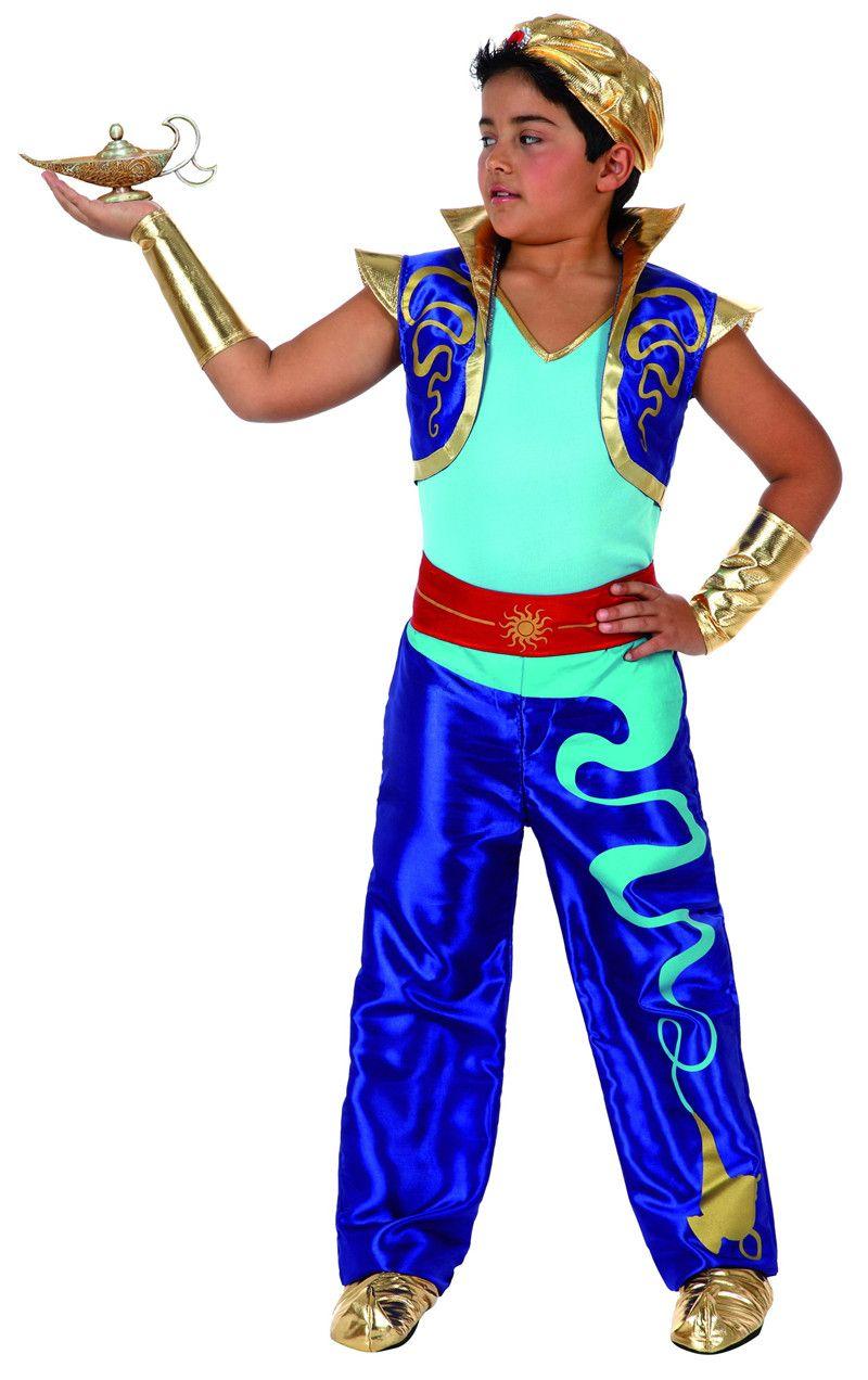 Vente en gros-2016 nouveau Style carnaval Cosplay Costume fête vêtements pour enfants Aladdin costumes super-héros couleur bleue