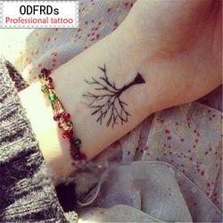 Impermeable tatuaje temporal tatuaje tatoo Henna falsa tatuaje pegatinas Taty tatuaje tatuajes Tatuajes árbol crece SYA065