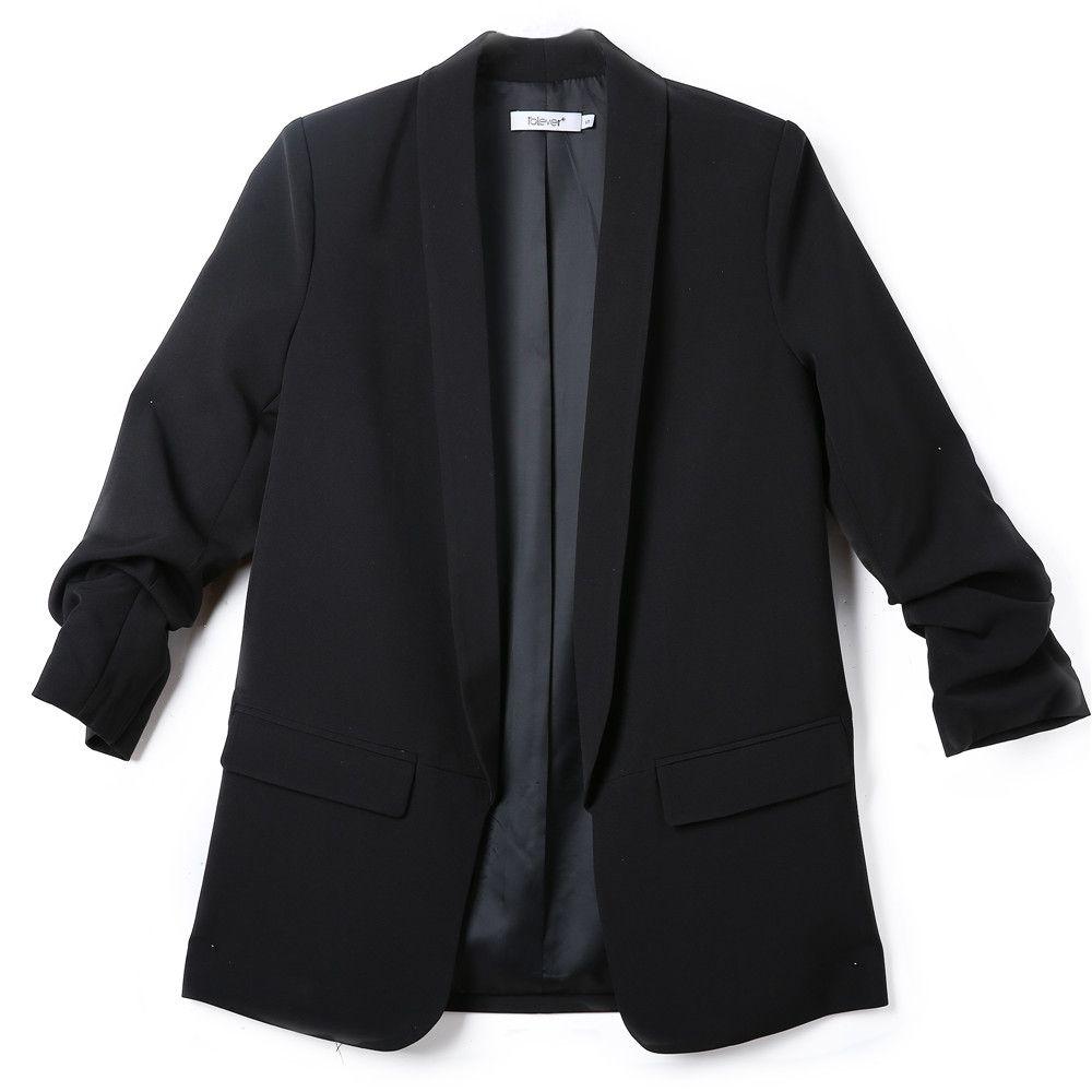 Fashion Autumn Women Blazers and Jackets <font><b>Work</b></font> Office Lady Suit Slim White Black None Button Business female blazer Coat Talever