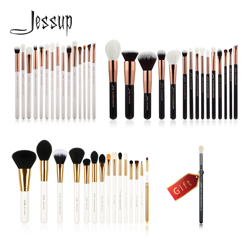 Jessup Buy 3 get 1 gift Makeup Brushes set professional make up kit Eye Liner Shader Foundation Powder Eyeshadow Eyeliner Lip
