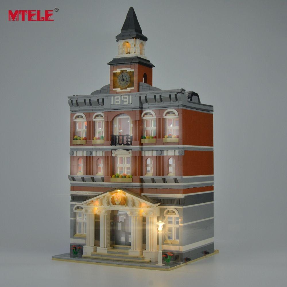 Kit de lumière LED de marque MTELE pour créateurs l'ensemble d'éclairage de bloc de construction de l'hôtel de ville Compatible avec le modèle 10224