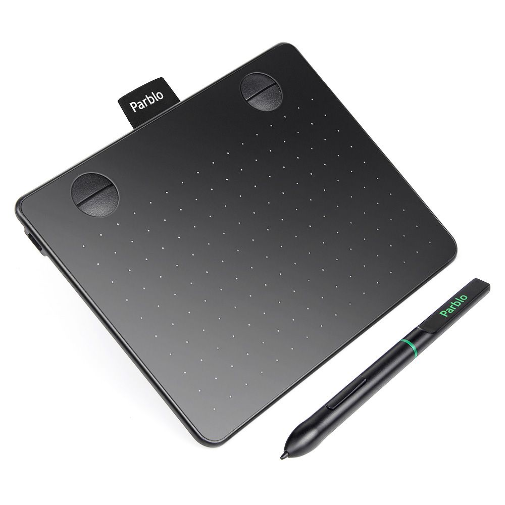 New Arrival Parblo A640 6*4 Inch Large Active Area Professional Signature USB Graphics Tablet 8192 Pressure Battery-free Pen