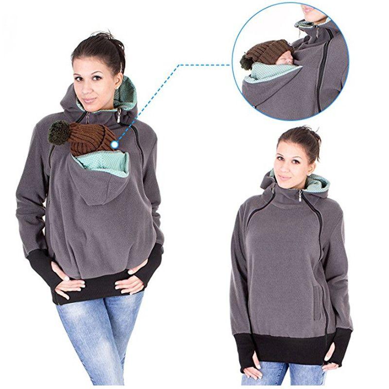 Fashion Exclusive Real Baby Wearing Carrier Hoodie Jacket Coat Sweatshirt For Mother Babywearing Multifunction Kangaroo Clothes