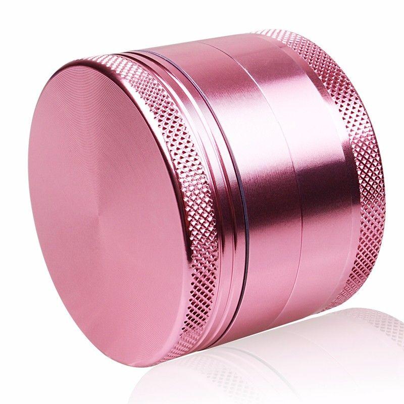 Rose couleur fille amour 4 niveaux Aluminium herbe broyeur mauvaises herbes tabac fumée Portable 50mm pour narguilé Shisha verre tuyau d'eau