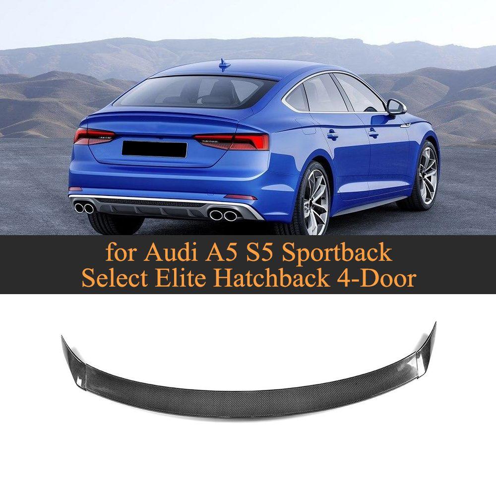 Carbon Fiber Rear Trunk Spoiler Lip Wing for Audi A5 S5 Sportback Hatchback 4 Door 2017 2018 2019 Not Sedan Car Styling 3PCS
