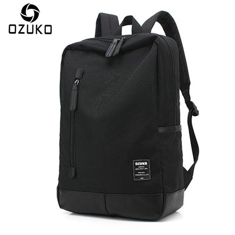 Ozuko Новинка 2017 года; стильное платье Для мужчин холст рюкзак модные Колледж студент мешок для подростков мужской ноутбук Mochila Повседневное т...