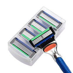 4 шт./лот Лезвия для бритв для Для мужчин Уход за лицом бритья Детская безопасность, 5-лезвия кассеты для бритья Стандартный для fusione RU и ЕС бри...