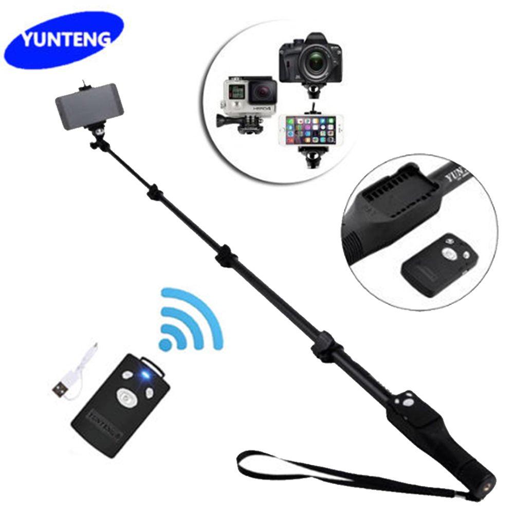 Для Gopro Dslr Камеры IOS Android Телефон Selfie Палка Yunteng 1288 Bluetooth Выдвижная Ручной Штатив Монопод Yt-1288 VS 188