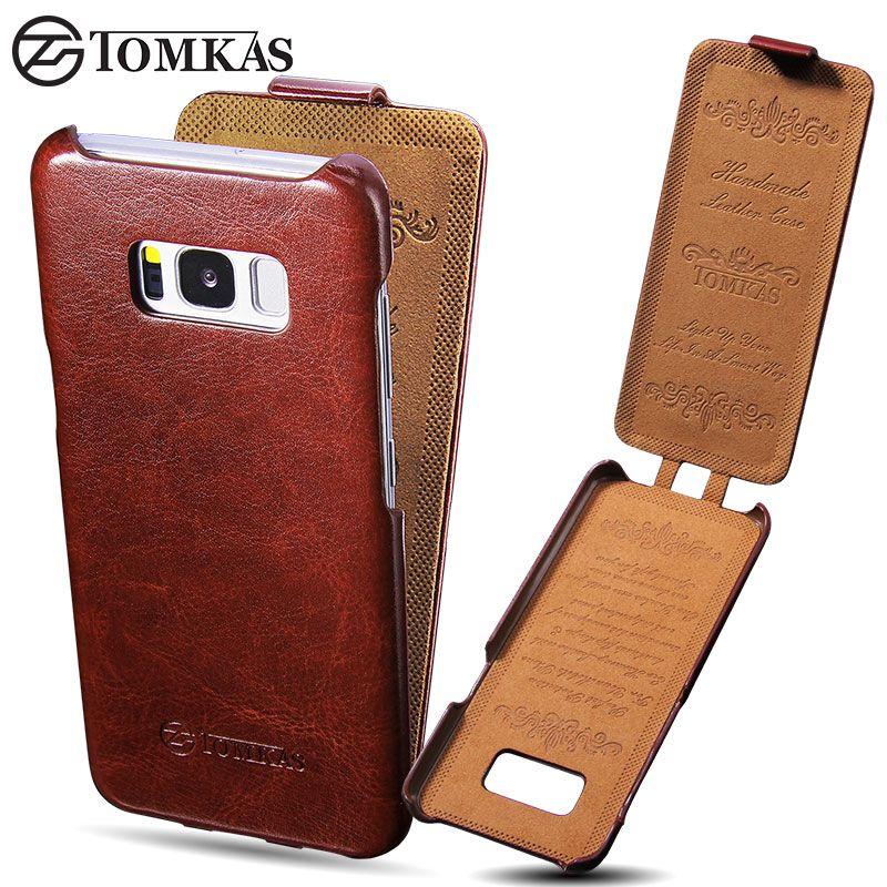 Tomkas чехол для Samsung Galaxy S8 Винтаж искусственная кожа флип чехол для Samsung S8 Бизнес телефон сумка-чехол для galaxy S8 Чехол