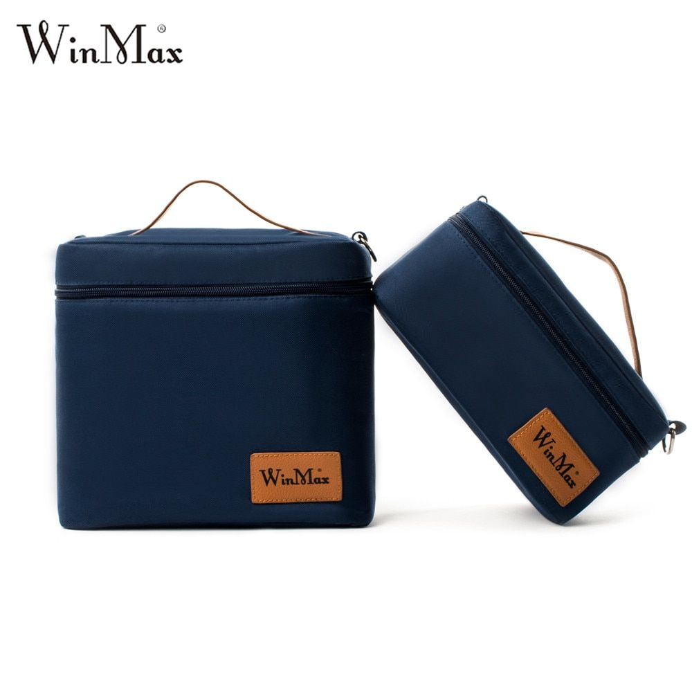 2018 Portable Thermal Insulated Cooler Lunch Bags Daily Tote Cooler Storage Ice Pack Container Travel <font><b>Picnic</b></font> Food Lunch Bag Box