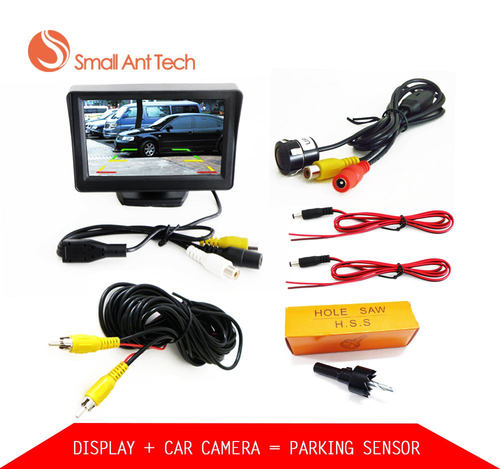 Car Parktronic Parking system kit Video Sound Alarm With Rear View Camera with 4.3
