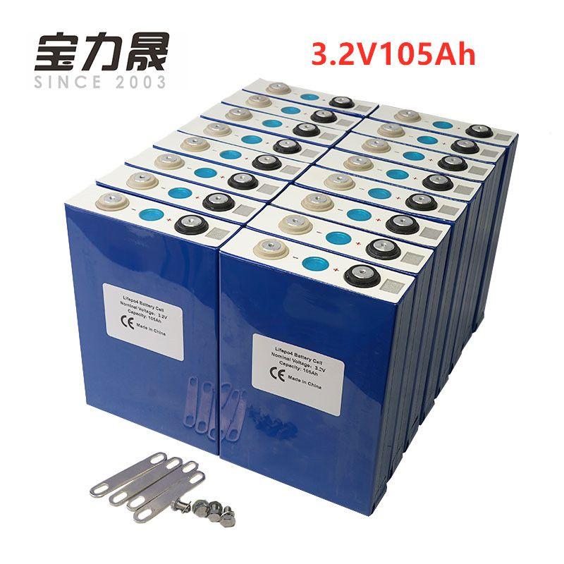 EU UNS STEUER FREIES UPS oder FedEx NEUE 20PCS 3,2 V 100Ah lifepo4 batterie ZELLE 12V 24V36V 48V 64V105Ah für EV RV batterie pack diy solar