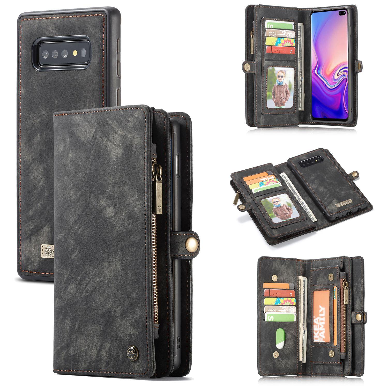 Luxus Zipper Wallet Für Coque Samsung Galaxy S10 5G S10e S10 Plus Fall Flip-Cover Etui Galaxy A20 A30 a40 A50 A70 Magnetische Taschen