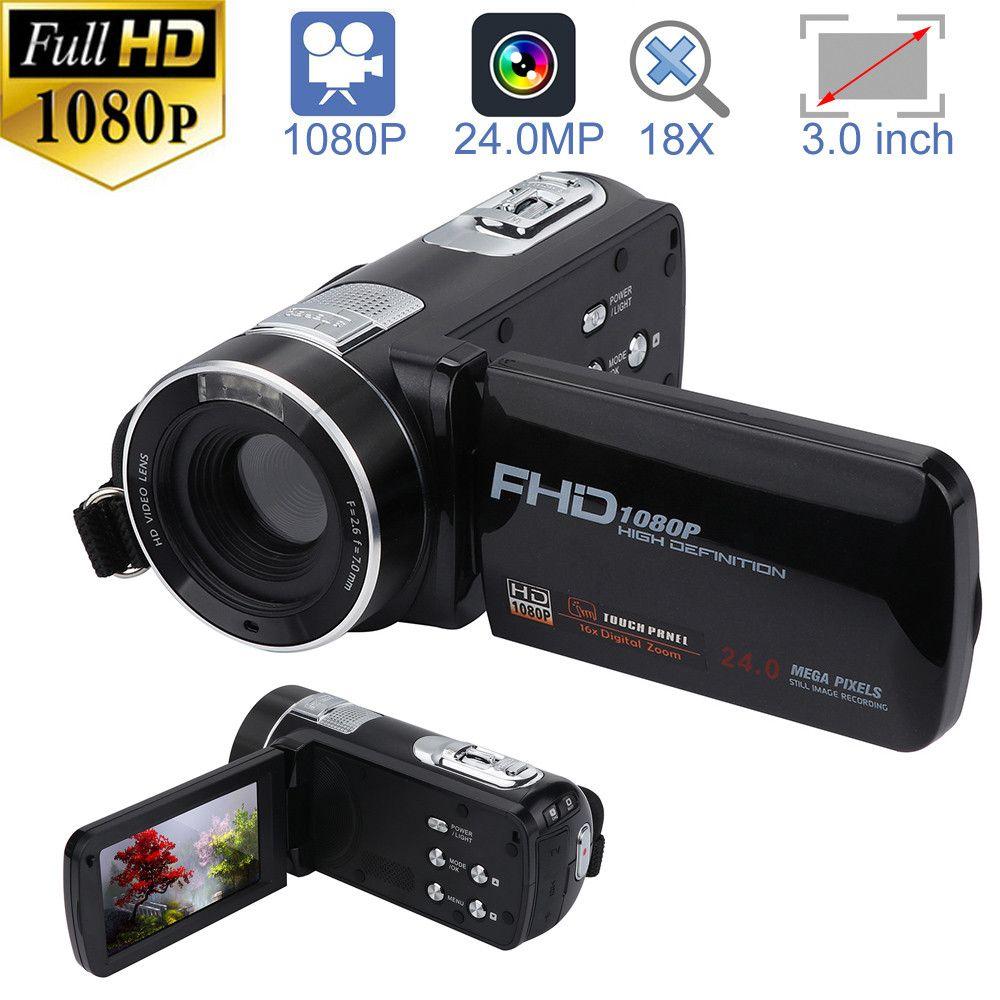 HIPERDEAL Caméscope FHD 1080 p 24.0MP 3.0 pouce LCD Écran 18X Numérique Zoom Caméra Night Vision Professionnel Appareil Photo Numérique