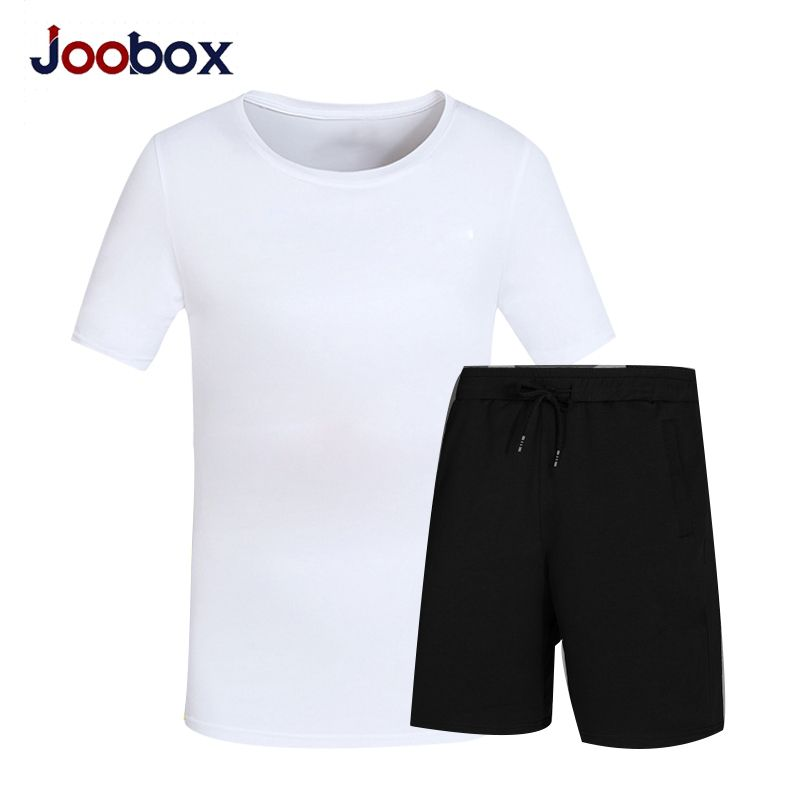 JOOBOX Summer Set Causal Two Piece Set Short Sleeve T Shirt Men's
