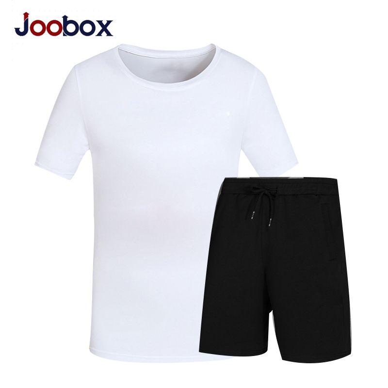 JOOBOX Summer Set Causal Two Piece Set Short Sleeve T Shirt Men's