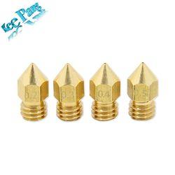 MK7 MK8 Buse 0.4mm 0.3mm 0.2mm 0.5mm Cuivre 3D Imprimantes Pièces Extrudeuse Fileté 1.75mm 3.0mm Filament Tête Buses En Laiton Partie