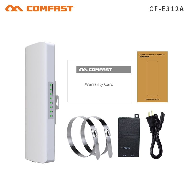 COMFAST 2km Long Range 5.8Ghz 300Mbps Wireless Outdoor CPE wifi Bridge High Power Wireless Router 2*14dBi Antenna wifi repeater