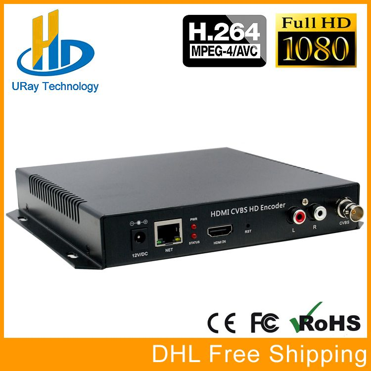 DHL Free Shipping MPEG4 HDMI + CVBS /Composite /BNC + R /L Audio Video Audio Encoder H.264 IPTV HD Live Streaming Encoder