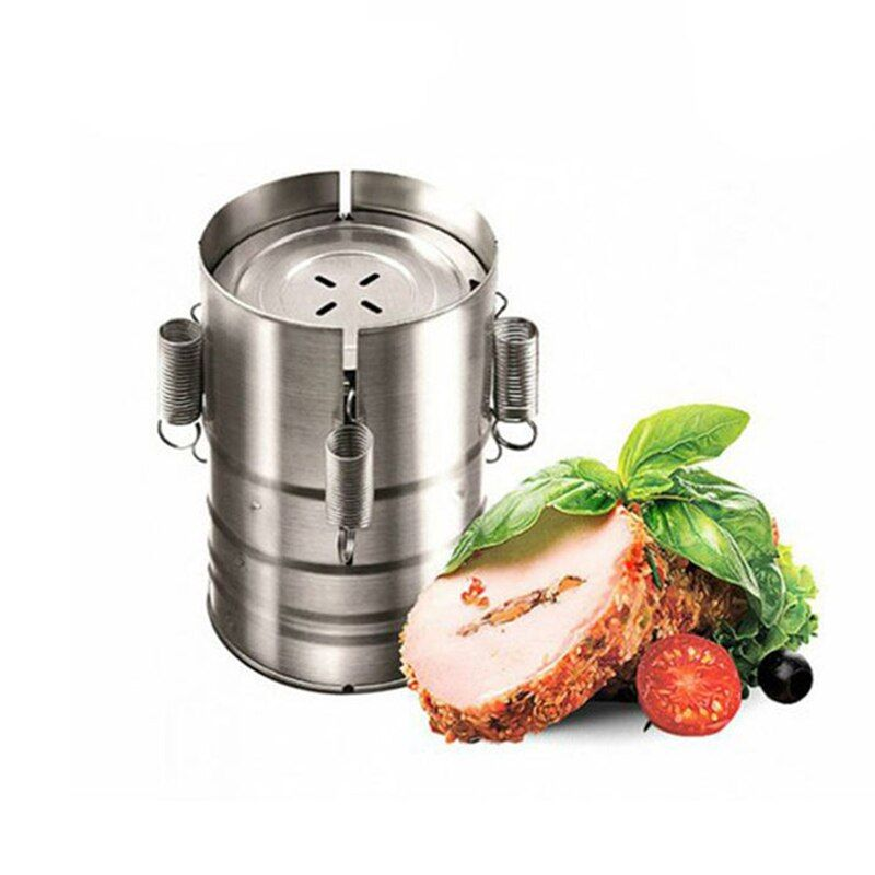 DINIWELL 3 Layer Stainless Steel Hamburger Making Tools For DIY Ham Press Maker Of Cooked Ham Kitchen Accessory