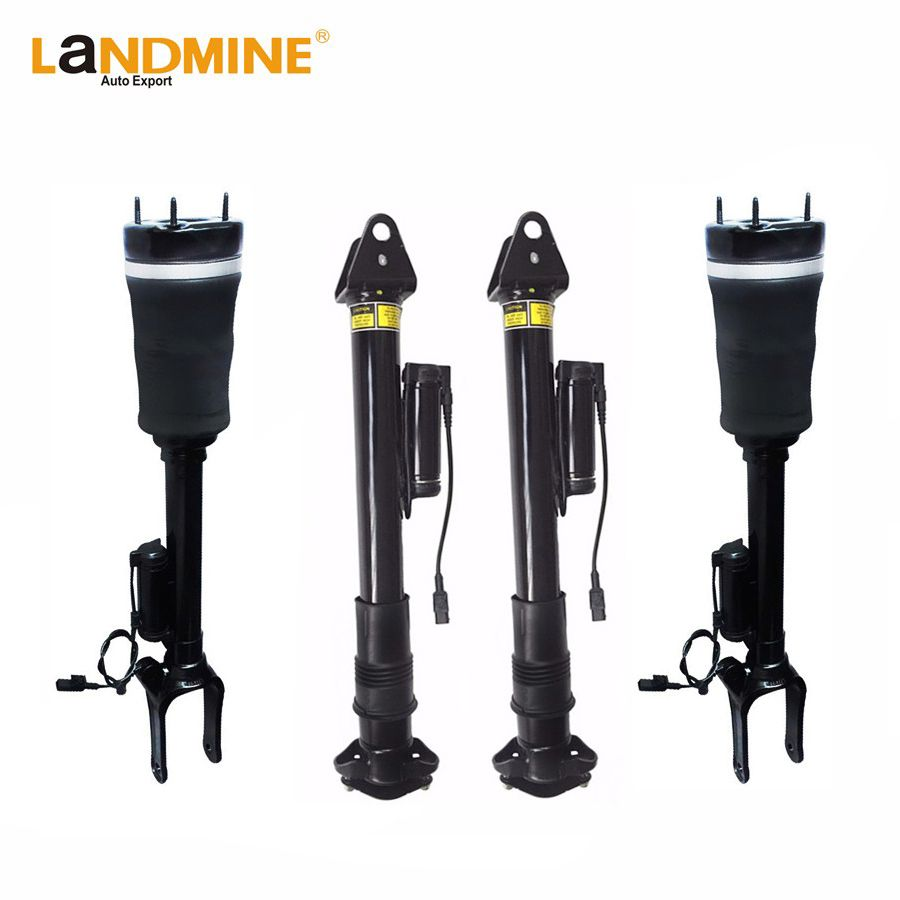 Free Shipping Mercedes X164 W164 ML GL 2pcs Front And 2pcs Rear With Sensor Suspension Air Spring Systems 1643204613 1643200625