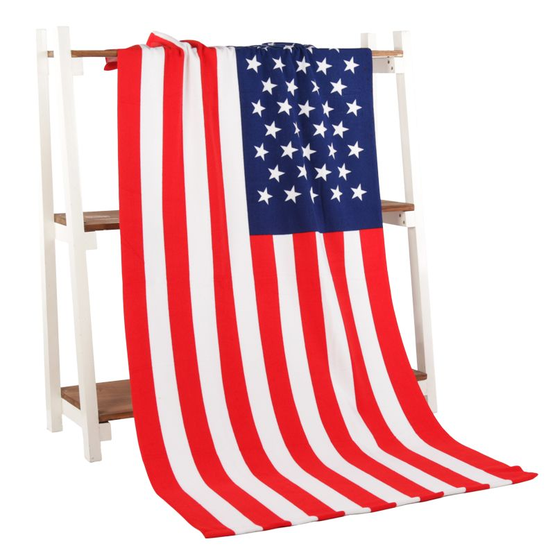 Serviette de plage USA drapeau ROYAUME-UNI DRAPEAU Microfibre Serviette De Bain Pour Adultes réactivé Imprimé Serviette De Plage Séchage Toalla Salle De Bains 70*140 cm corps