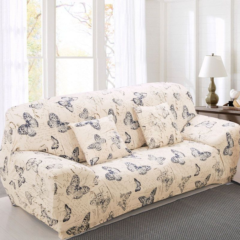 Elastic Sofa Cover Printed Flowers Slipcover <font><b>Tight</b></font> Wrap All-inclusive Corner Sofa Cover Stretch Furniture Covers 1/2/3/4 seater