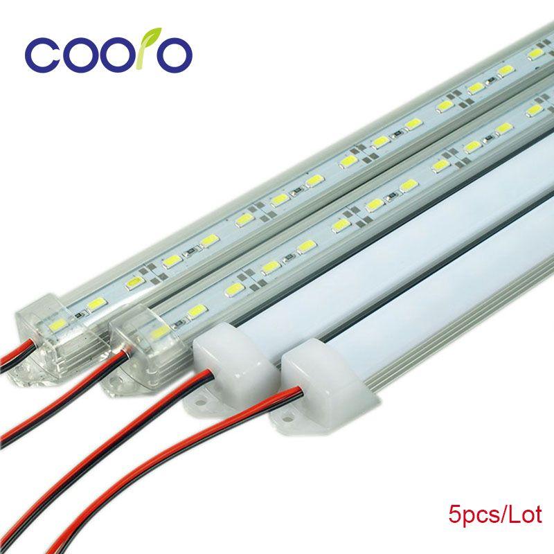 Светодиодные длинные лампы белый теплый белый холодный белый DC12V 5630 5730 Светодиодные ленты Светодиодные трубки с U алюминия В виде ракушки + pc...