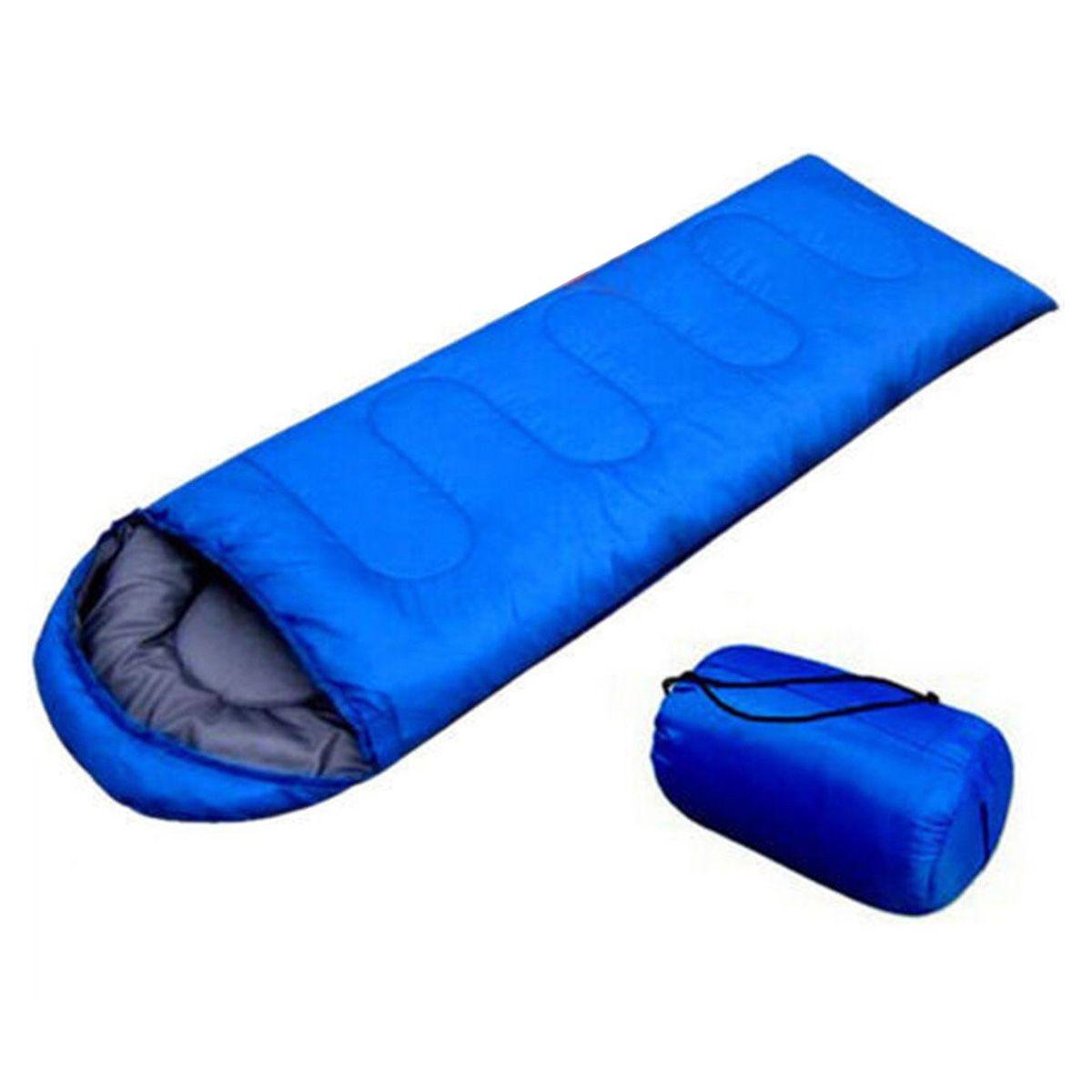 JHO-sac de couchage enveloppe de voyage imperméable extérieur Camping randonnée étui de transport bleu