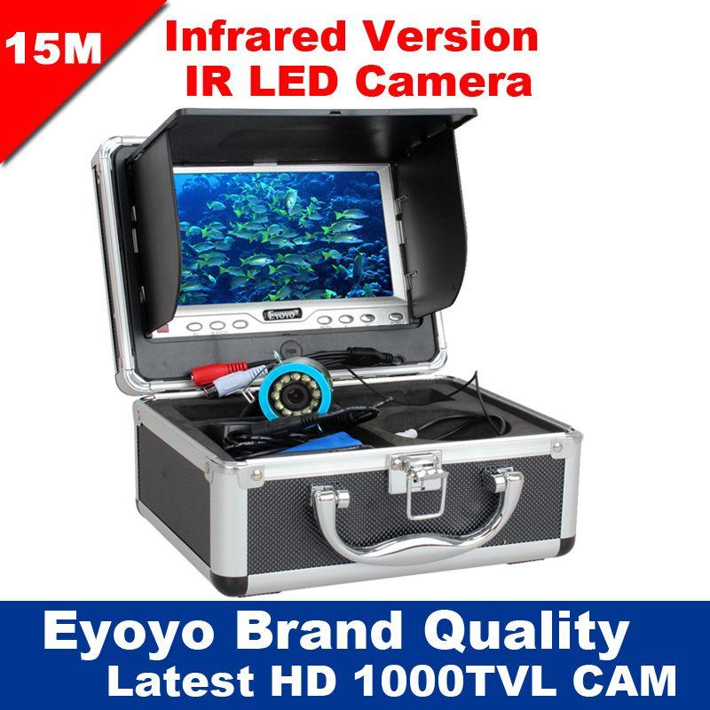 Eyoyo Original 15M Infrared Fish Finder 1000TVL Underwater Ice Fishing Camera 7