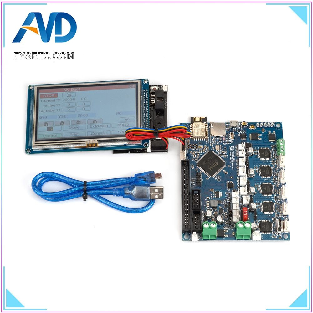 V1.03 Version Duet 2 Wifi V1.03 Cloned DuetWifi Advanced 32 Bit Electronics With 4.3