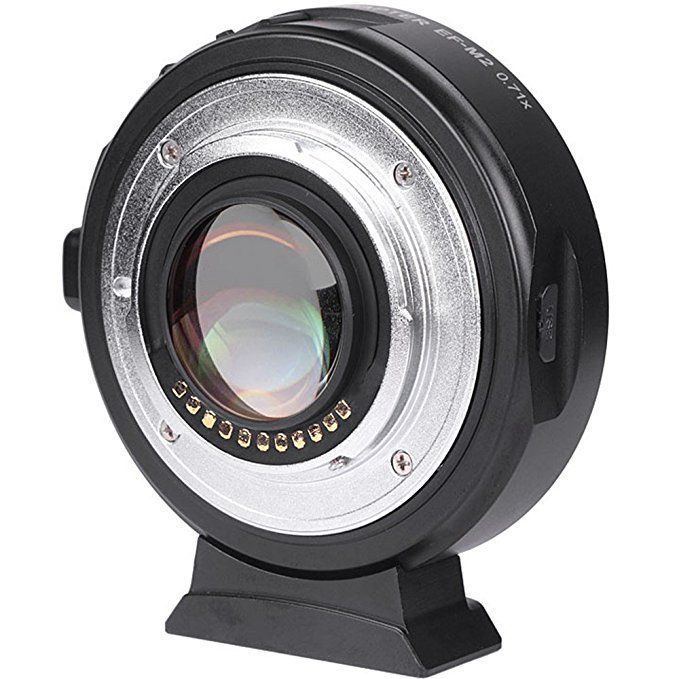 Viltrox EF-M2 AF Auto-focus EXIF 0.71X Reduce Speed Booster Lens Adapter Turbo for Canon EF lens to M43 Camera GH4 GH5 GF6 GF1
