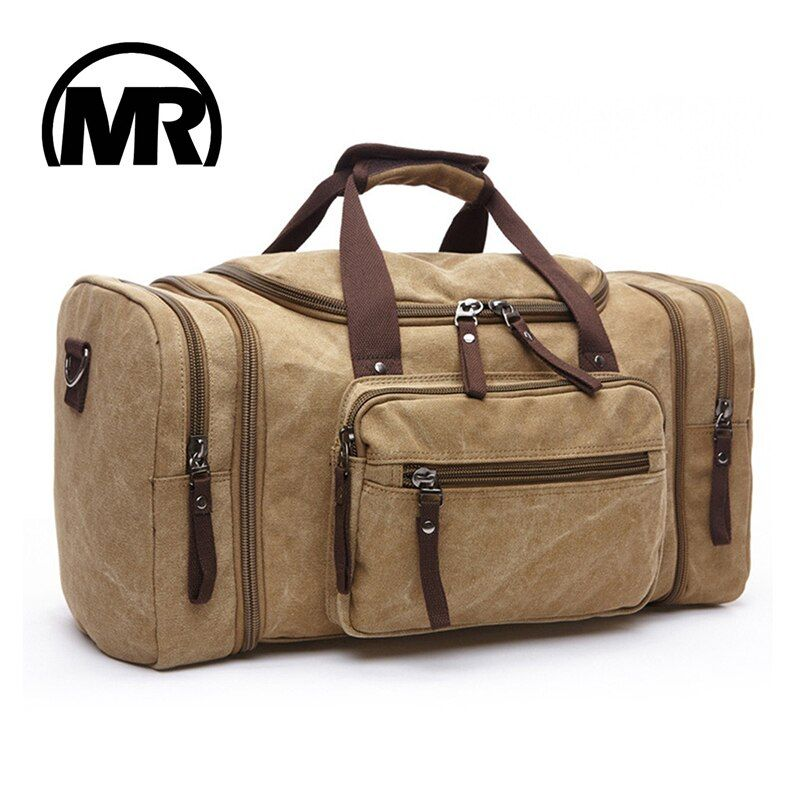 MARKROYAL Soft Canvas Men <font><b>Travel</b></font> Bags Carry On Luggage Bags Men Duffel Bag <font><b>Travel</b></font> Tote Large Weekend Bag Overnight High Capacity