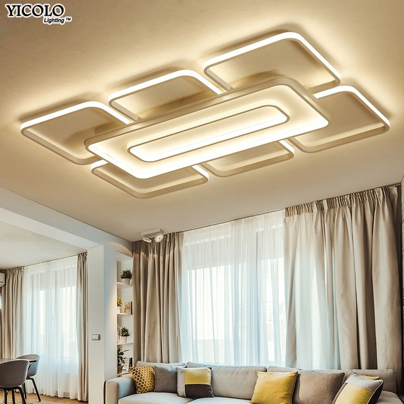 Brown/white Modern led Chandeliers lamp for Bedroom Living room surface mount luminaria de teto Home Lighting plafonnier fixture
