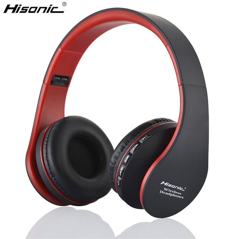 Hisonic mains libres écouteur sans fil stéréo pliable écouteurs Microphone casque audio auriculares casque casque écouteur