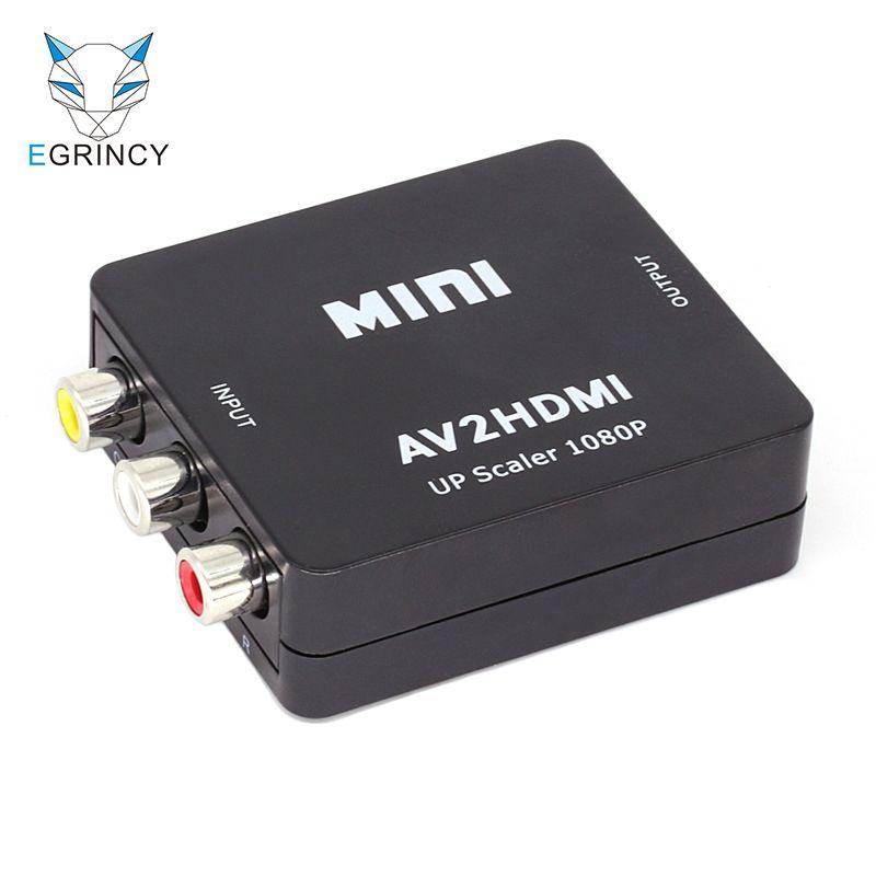D'origine Composite RCA AV HDMI CVBS À HDMI Adaptateur HD 1080 p AV Pour HDMI Mini AV2HDMI Audio Vidéo Convertisseur pour DVD VCD BOÎTE HDTV