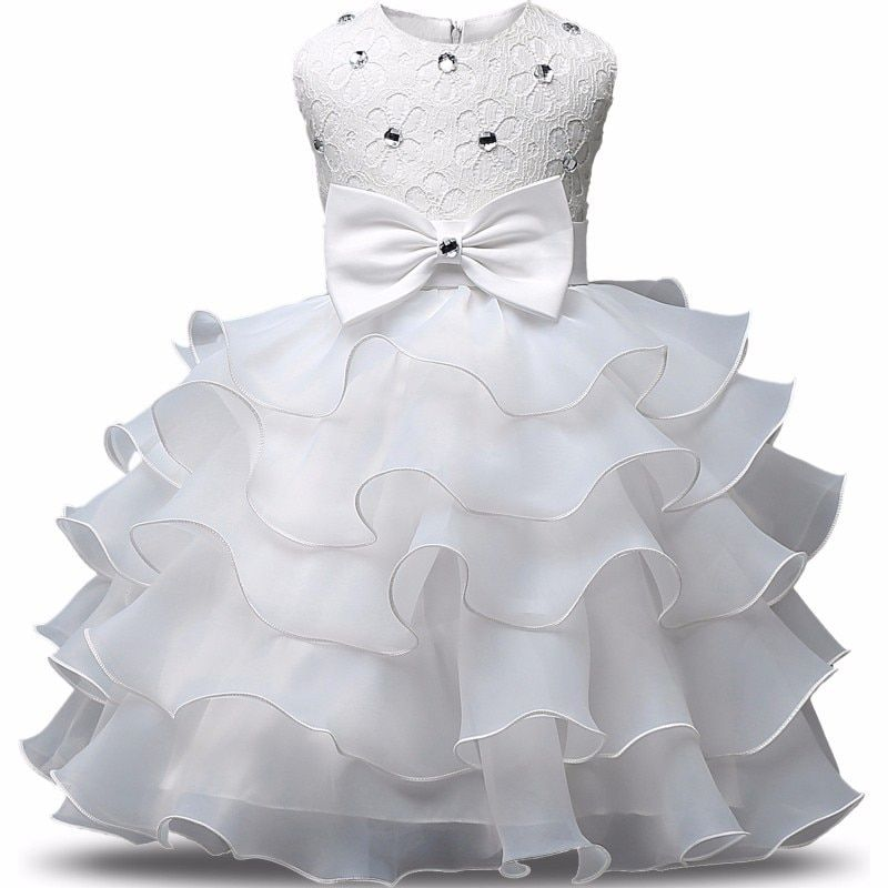 Girl Dress Elegant formal Princess Dress of Girls For Wedding Flower Girl Dresses With Baby Girls Children Christmas Dress