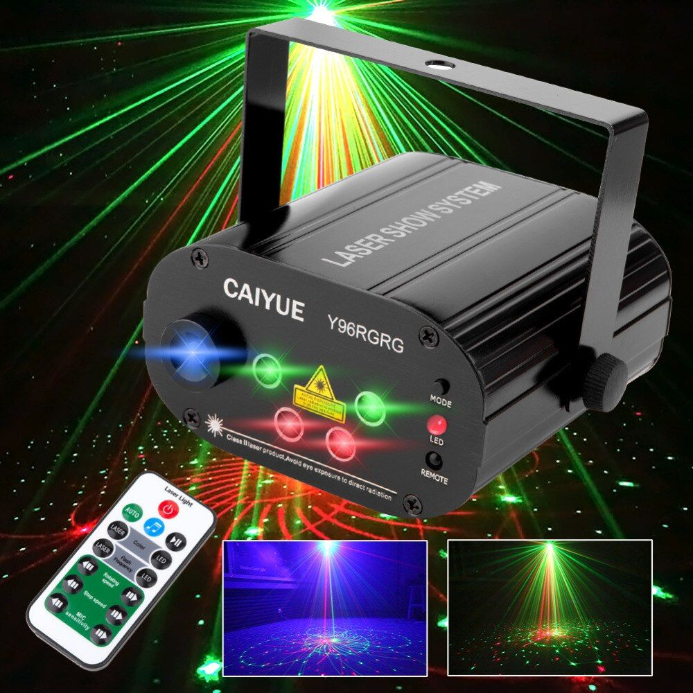 96 Patterns Projector DJ Laser Stage Light RG red green Blue LED Magic Effect Disco ball with controller moving head Party Lamp