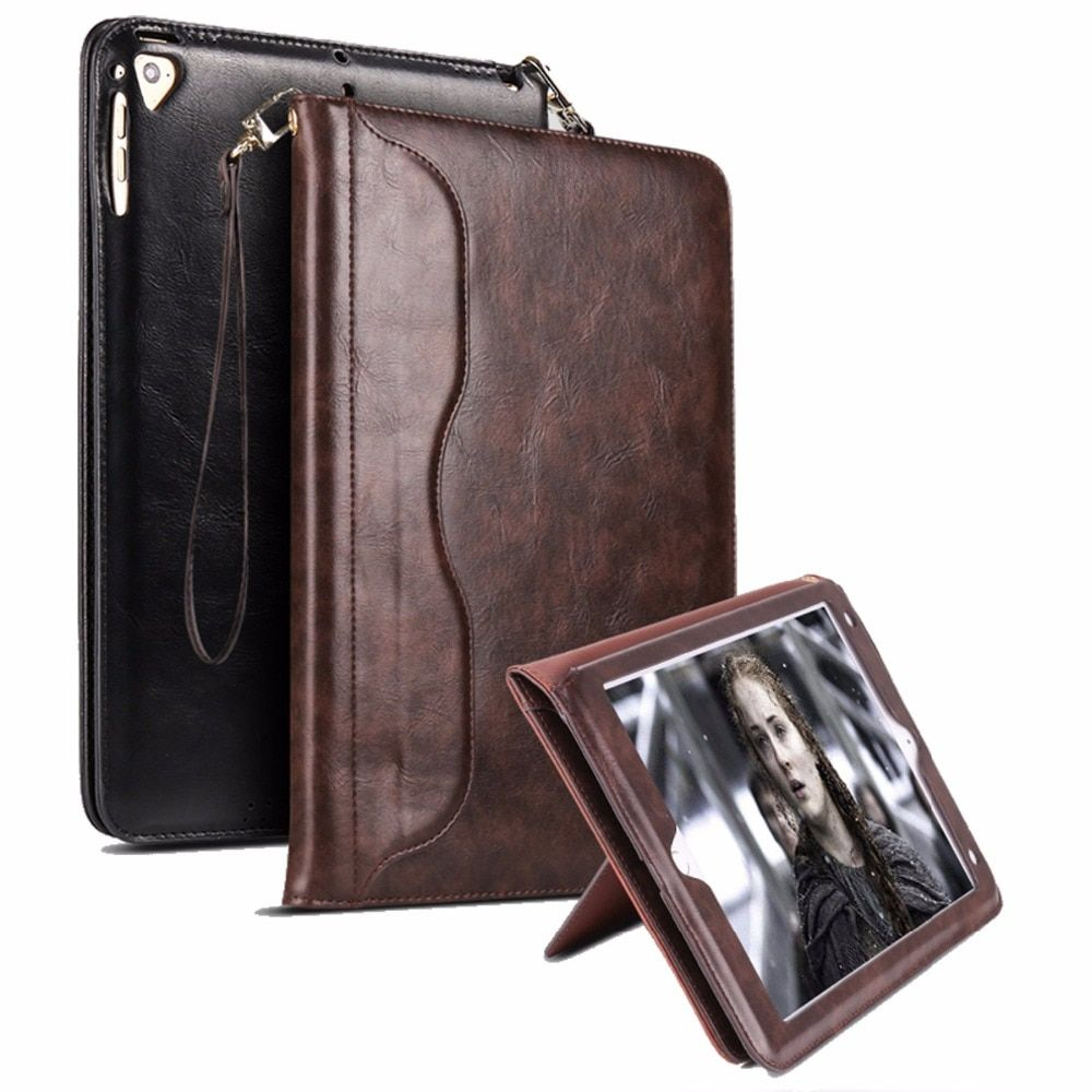 For Funda iPad Air 2 Case Book Premium Leather Stand Case Smart Auto Wake/Sleep Cover for iPad Air 2 Air 1 Pro 9.7 New iPad 9.7