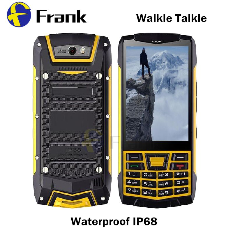 Android 6.0 Button Smartphone IP68 Walkie Talkie waterproof Shockproof NFC GPS WIFI Quad core 1GBRAM 3.5INCH 5MP WCDMA Cellphone
